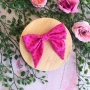 Pink Raspberry Spot Bow Hair Clip or Headband