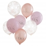 Mixed Pack Of Pink & Rose Gold Hens Party Balloons