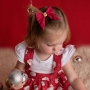 Red & Gold Girls Hair Bow - Clip or Headband