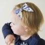 Royal Blue Caribbean Sailor Bow Hair Clip or Headband