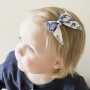 Royal Blue Caribbean Sailor Bow Hair Clip or Headband