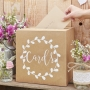 Square Rustic Style Card Post Box - Wishing Well