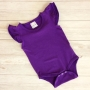 Purple Short Sleeve Flutter Onesie