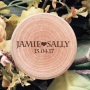 Simple Couples First Names Personalised Wooden Ring Boxes