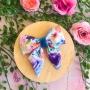 Summer Days Floral Girls Hair Bow Clip or Headband