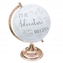 The Adventure Begins Wedding Globe Guest Book Alternative