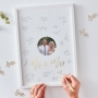 White & Gold Mr & Mrs Signature Frame Guest Book