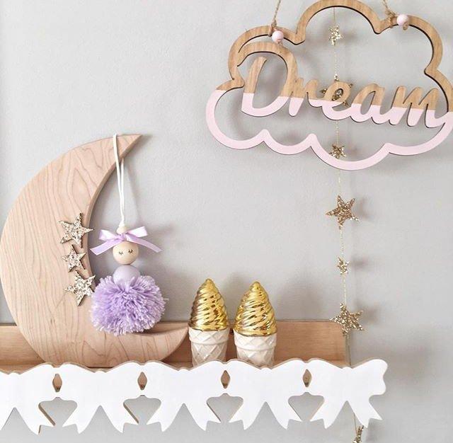 Pretty Hanging Ballerina Pom Pom Kids Room Decorations