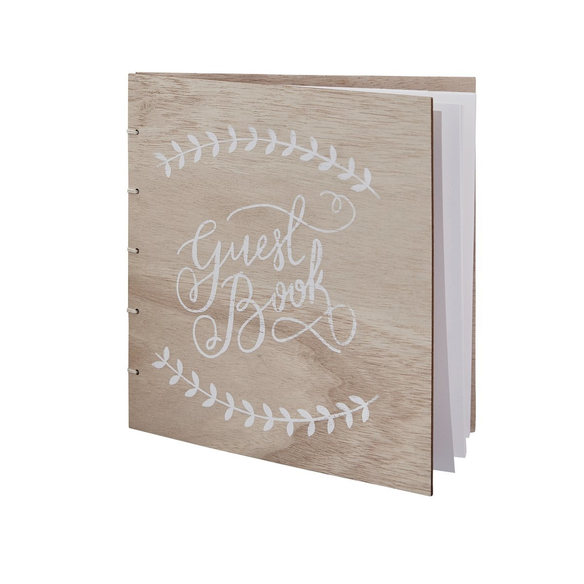 Wooden Boho Wedding Guest Book