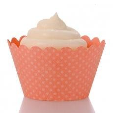 Coral Cupcake Wrappers - Pack of 12