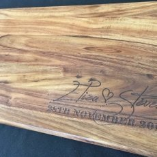 Couples Names & Date Personalised Timber Chopping Board