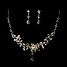 Crystal Couture Bridal Jewellery Set - Gold