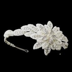 Pearl Flower Side Accented Headband