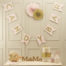 Pale Pink & Gold Candy Bar Bunting