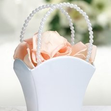 Plain White Flower Girl Basket