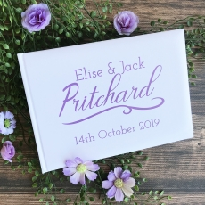 Swash Personalised Wedding Guest Book