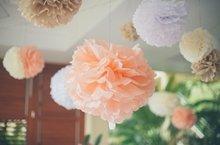 Tissue Pom Poms for Weddings