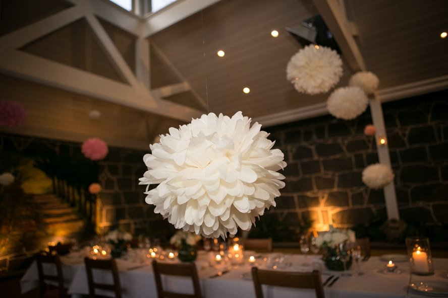 ivory_hanging_tissue_pom_pom_decoration_wedding_reception