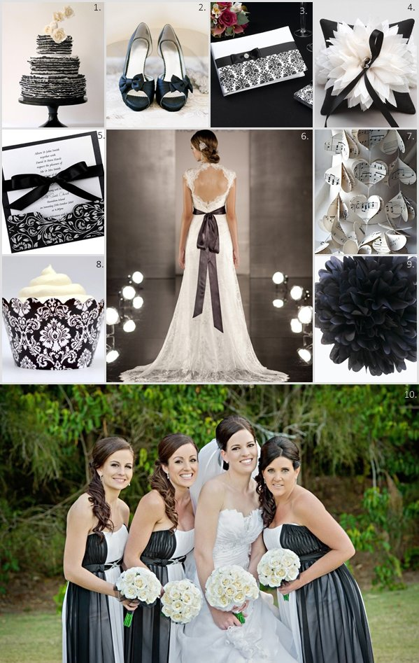 Classic Black And White Wedding Theme How Divine