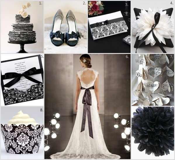 Classic Black and White Wedding Theme