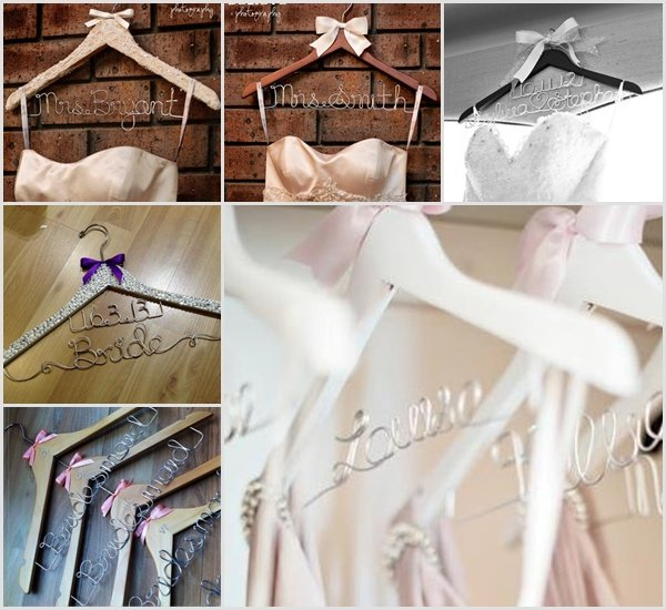 Perfect gift idea for your Bridal Party - Personalised Wedding Hangers ...