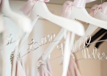 Perfect gift idea for your Bridal Party – Personalised Wedding Hangers